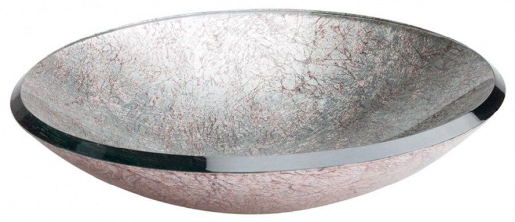 DUNE LAVABO RED. SILVER 46X46X10 CM