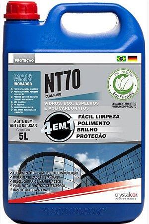 NT70 - VIDROS E ACRÍLICOS IMPERMEABILIZANTE INSTANTÂNEO 5 LITROS - PERFORMANCE ECO