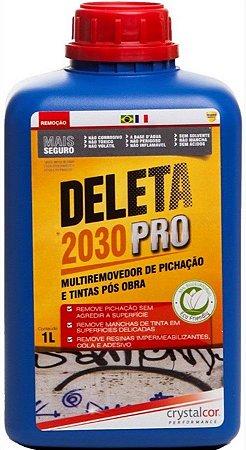 DELETA 2030 PRO - REMOVEDOR DE PICHAÇÃO E TINTAS PÓS OBRA 1 LITRO- PERFORMANCE ECO
