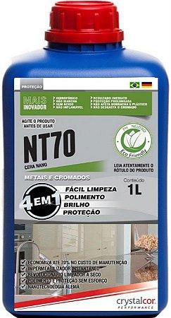 NT70 - METAIS E CROMADOS IMPERMEABILIZANTE, MULTIPOLIDOR E PROTETOR 1 LITRO  PERFORMANCE ECO
