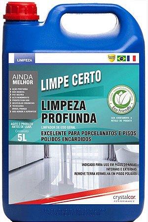LIMPE CERTO LIMPEZA PROFUNDA PORCELANATO E PISO ENCARDIDO 5 LITROS - PERFORMANCE ECO