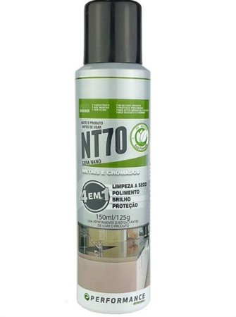 NT70 - METAIS E CROMADOS IMPERMEABILIZANTE, MULTIPOLIDOR E PROTETOR 150ML - PERFORMANCE ECO
