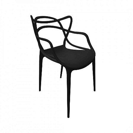 Cadeira Allegra Polipropileno Preta