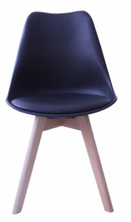 Cadeira Saarinen Wood Preta