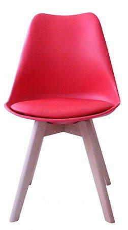 Cadeira Saarinen Wood Vermelha