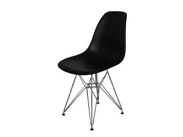 Cadeira Dkr Charles Eames Base Eiffel Aço Cromado