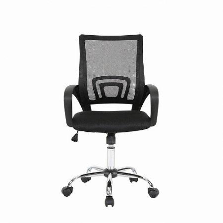 Cadeira Secretária Giratória Preta