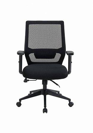 Cadeira Diretor Genebra Encosto com Trava Preta