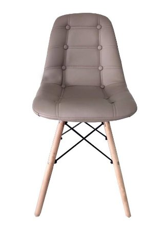 Cadeira Dkr Charles Eames Estofada Botonê - Fendi