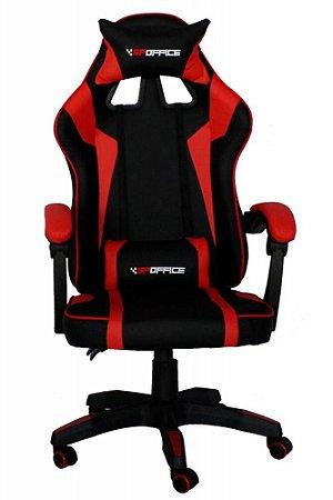 Cadeira Gamer Gp Office Reclinável Preto e Vermelho