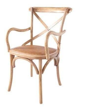 Cadeira Paris Madeira Maciça Com Braço