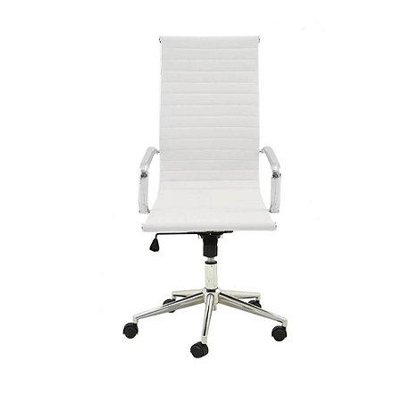 Cadeira Presidente Charles Eames Esteirinha Branca