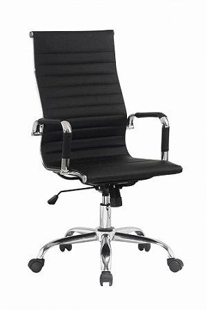 Cadeira Presidente Charles Eames Esteirinha Preta