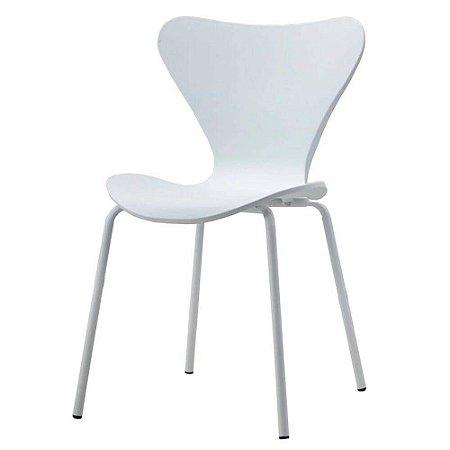 Cadeira Jacobsen formiga Assento Polipropileno Branca