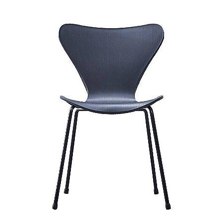 Cadeira Jacobsen formiga Assento Polipropileno Preta
