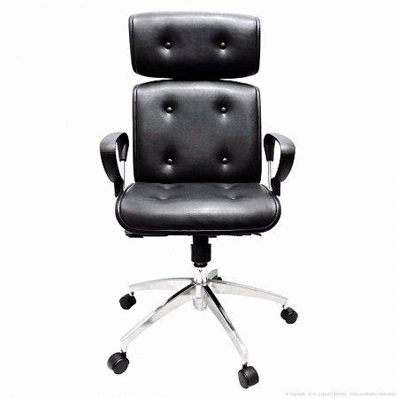Cadeira Presidente Elite Charles Eames Preta