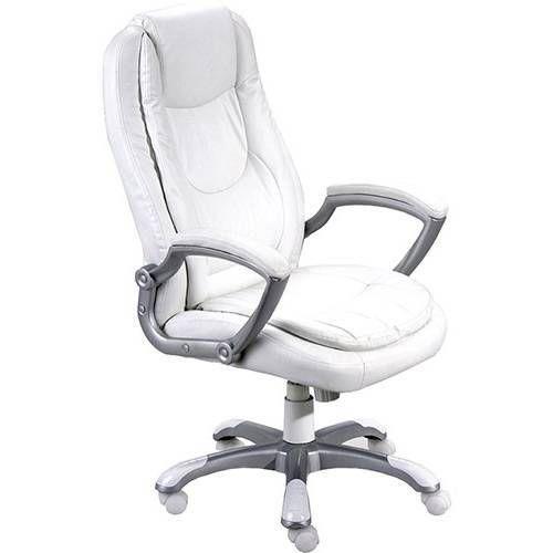 Cadeira Presidente Estofada Montello Giratória Branca