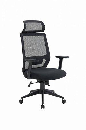 Cadeira Presidente Genebra com Regulagens Tela Preta