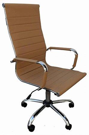Cadeira Presidente Office Charles Eames Esteirinha Bege