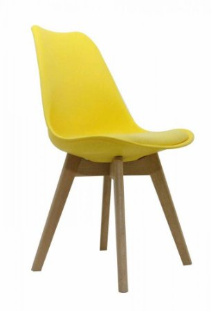 Cadeira Saarinen Wood Amarela