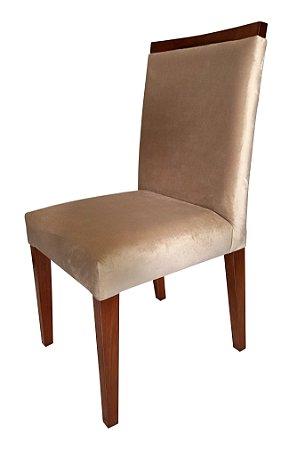 Cadeira de Jantar Estofada em Madeira Stefany