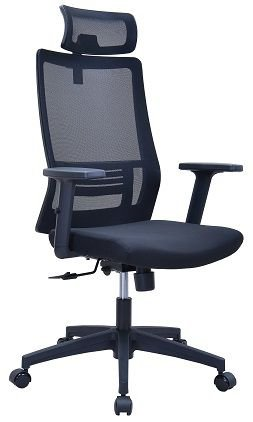 Cadeira Presidente Brooklyn em Tela Ergonômica Preta
