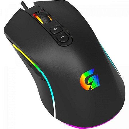 Mouse Gamer CRUISER RGB 10000DPI Preto FORTREK G