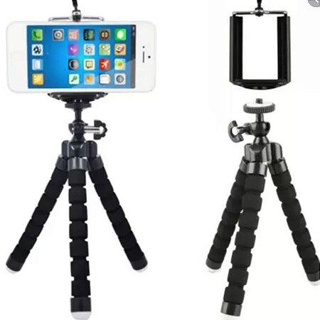 Mini tripe polvo + adaptador de celular