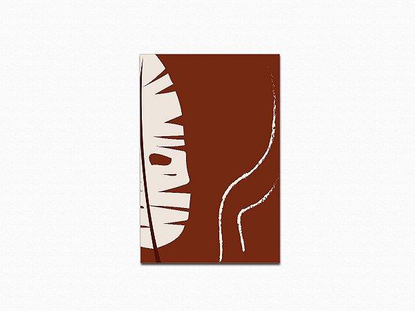 Quadro Abstrato - Coleção Tribo - Folha