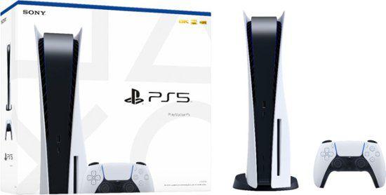 Sony PlayStation 5 825GB Standard cor  branco e preto
