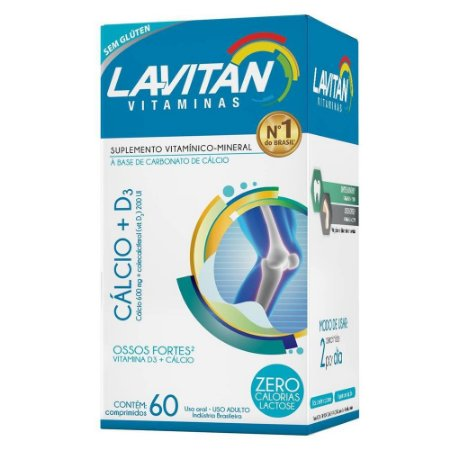 LAVITAN CÁLCIO +D3 60 COMPRIMIDOS CIMED