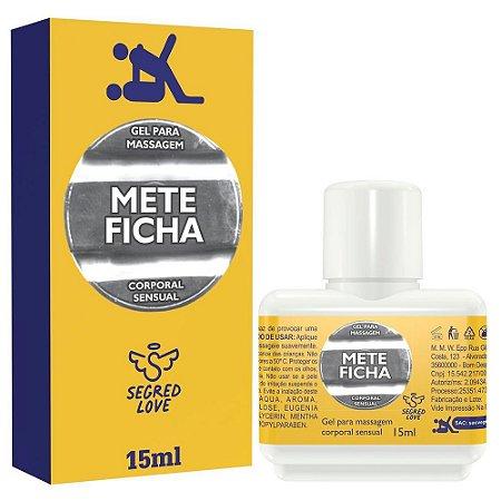 METE FICHA GEL PROLONGADOR DE EREÇÃO 15ML SECRED LOVE