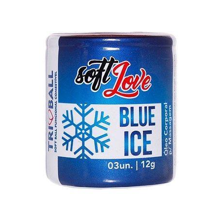 SOFT BALL BLUE ICE TRI BALL SOFT LOVE