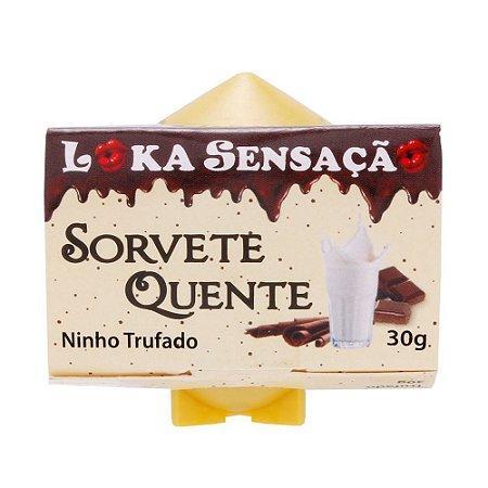 SORVETE QUENTE VELA COMESTÍVEL NINHO TRUNFADO 30G LOKA SENSAÇÃO