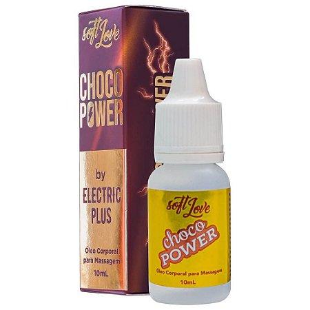 CHOCO POWER BY ELECTRIC PLUS ÓLEO BEIJAVEL ELETRIZANTE 10ML SOFT LOVE