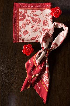 Lenço Pequeno Flor de Laranjeira Ref.: 081770