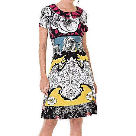 Vestido Secretário Flores De Mariana - Ref.: 104644