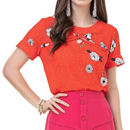 Blusa Estampada Perfume das Flores - Ref.:027974
