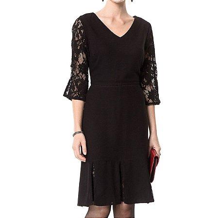 Vestido Secretário Renda Aconchego - Ref.:102970
