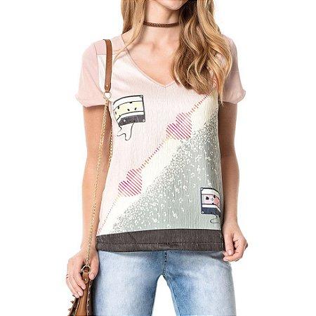 T-shirt Tape Música do Coração - Ref.:025532