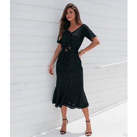 Vestido Midi Tricot Lurex - Ref.: 101637