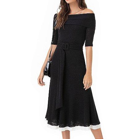 Vestido Midi P&B Alexia - Ref.:102772