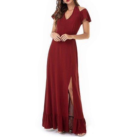 Vestido Longo Com Fenda Vitória - Ref.:103433