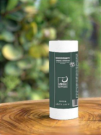 Desodorante Lavanda e Melaleuca uNeVie 50g CARTUCHO DE PAPEL