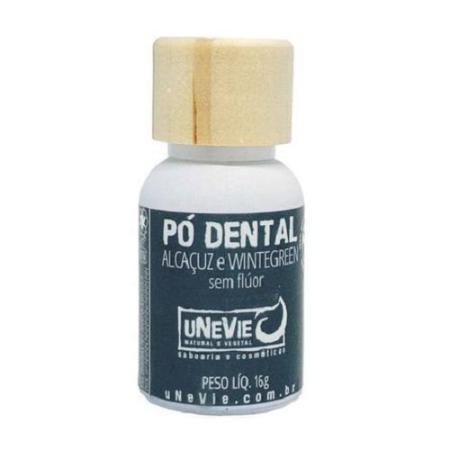 Pó Dental Alcaçuz e Wintergreen uNeVie 16g