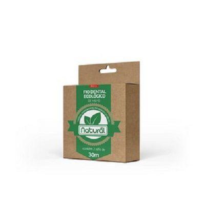 Fio Dental Ecológico de Milho Natural REFIL (contém 2 refis de 30m)