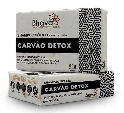 Shampoo Sólido Detox Bhava 90g LIXO ZERO