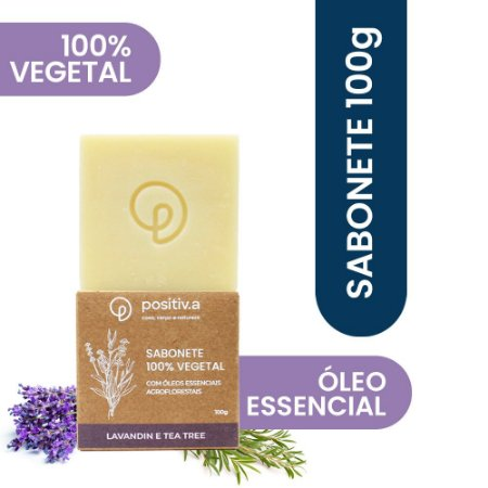 Sabonete Vegetal Lavandin e Melaleuca Positiv.a 100g