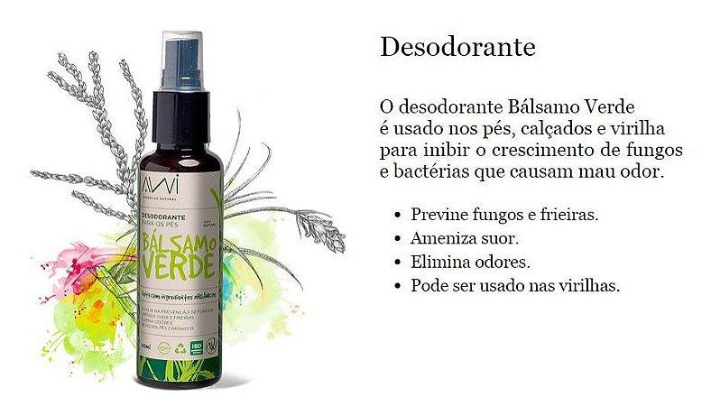 Bálsamo Verde Desodorante Para Pés e Virilhas Awi 100ml