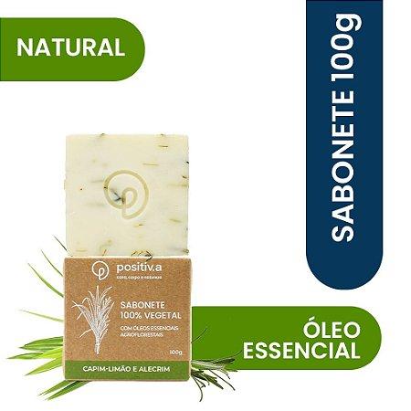 Sabonete Vegetal Capim Limão e Alecrim Positiv.a 100g